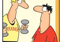 Fitness Funnies / Health, fitness and wellness... all important topics. But just because they're important, doesn't mean they have to be serious. Here's some funny fitness cartoons and the like to bring a smile to your face next time you find yourself trying to find the motivation to choose 'health' first.