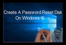 Create password reset disk / How To create a password reset disk for windows 10 computer users.