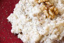 risotto al latte con provolone piccante e noci