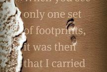 Footprints in sand poem