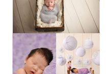 Specialisation mood board / A collection of newborn portraiture and ideas leading to my own style
