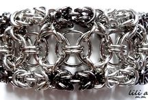 biżuteria chainmaille / naszyjniki, bransoletki, kolczyki