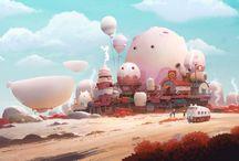 Amazing illustrated Cartoon Worlds!