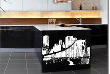 Möbelsticker Skylines & Landschaften / Großstadtflair oder Lanschaftsidylle als maßgefertigtes Möbeltattoo - Deko für alle Räume und Möbelstücke
