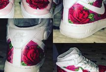 Shoes Air force roses