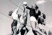 Volleyball / Volleyball is a team sport in which two teams of six players are separated by a net.