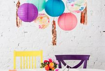 Mood board Party decoration / Colored