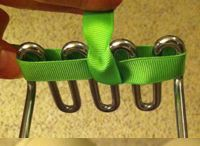 Easy bow using kitchen utensil or two nails