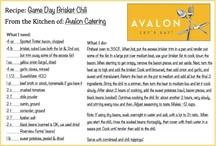 Recipes from Avalon's Kitchen