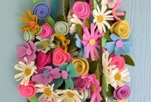fiori stoffa uncinetto e altro