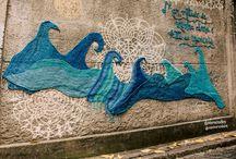 вязаное графити