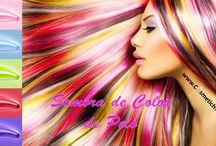Tizas color pelo / Glide On para cabello en diferentes colores. Aplicador en pinza. Excelentes resultados. Se elimina fácilmente con agua.