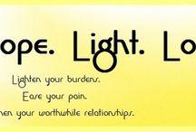 Faith. Hope. Light. Love- Carolyn Calton Blog