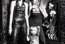 David Bowie with his family