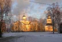 Church buildings / Mainly in Finland. Huvudsakligen i Finland. Pääasiallisesti Suomessa