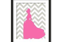 Princess/ Ballerina  Room Inspiration (Pink, lavender, Gray) / by Mandy Burns