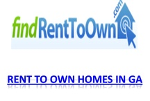 Rent To Own Home In GA