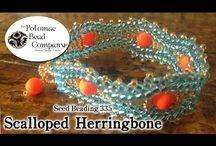 Herringbone mavi sarı bileklik yapım videosu