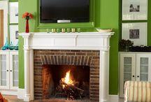 Fireplace wall / by Kristin Kouka