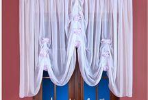 Firanki szyte do salonu / Eleganckie, stylowe firanki do dekoracji okna w salonie. Zapraszam do oglądania. Firanki dostępne w sklepie kasandra.com.pl