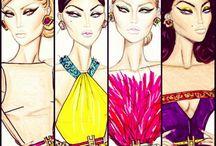 Hayden Williams / Hayden Williams's fashion sketches