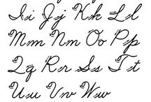 Penmanship / Cursive and print writing