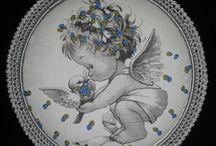 anioły dla dzieci / medaliony na ściane