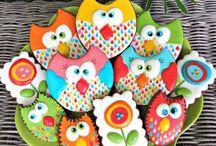 Печенье в виде совы