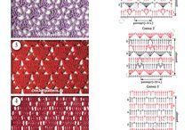 crochet-schéma-diagram / Len vzorky s diagrammi