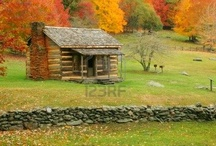 Rustic Cabin / Be still my beating heart until, someday soon, we may take to the hills.... / by BoPeep & Co