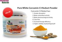 Pure White Curcumin C3 Reduct Powder / The Pure White Curcumin C3 Reduct Powder supplement is color free and also has increased efficiency per dosage. http://goo.gl/FoJ94w