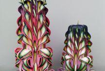 Резные свечи / Тут представлены мои резные творения! Это свечи выполненные в стиле итальянских мастеров. Этот стиль резьбы отличается сложностью исполнения, утонченностью цветовых сочетаний и минимумом дополнительного декора.
