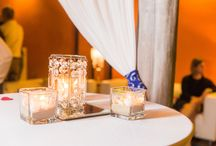 Life's A Beach / Casa Mariposa looks amazing dressed in Beach Decor. Elegant palm trees and bistro lights add island romance to your big day!