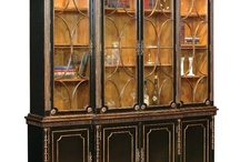 Painted Furniture: China Cabinets & Hutches / Painted china cabinet, hutch, console