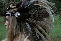 Headpiece Bohemian Feathers