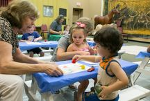 Cowpokes and Brush Strokes / Art program for 2-4 year olds - grant funding from Oklahoma Arts Council and private membership donations make this possible.