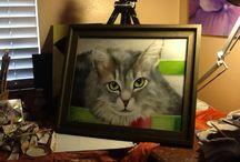 Pussycat / Oil painting of homeless pussycat
