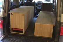 Honda Element Camper / Here are some photos of my camper build for my Honda Element. I decided to keep things simple and make some storage compartments. I will also add a mini fridge to the setup.