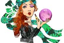 Starsign illustrations For Femina