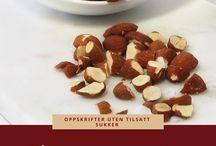 Sunne og gode snacks / Deilige snacks når du trenger litt sunn inspirasjon | Sunne snacks | Sukkerfri snacks | Nyttig mat | Sunne oppskrifter | Sukrin | Proteinrike og gode snacks