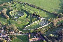 Aerial Views of Basing House / #history #archaeology #tudor #englishcivilwar #basinghouse #basing #hampshire #basingstoke #artefacts #stuart #medieval #archive #dig #excavation #southampton #york #henryviii #elizabethi #queen #king #maryi