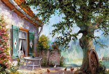 кантри,прованс,village