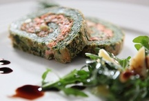 Spinach and salmon roulde