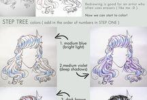 Mangas Cheveux dessin