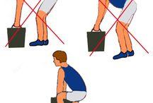 veilig in de kleren / Veilig tillen, hoe kun je het beste aan je bureau zitten, waarmee uit te kijken bij staand werk.  Vluchtwegen, brandblussers…….en nog veel meer.