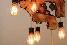 lamparas  techo con tablero