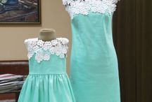 Mommy and baby's dress