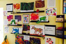 displaying art