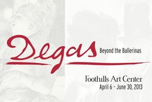 Degas - Beyond the Ballerinas / Foothills Art Center is thrilled to bring an extraordinary and rarely viewed exhibition to Colorado, from April 6 through June 30, 2013! Edgar Degas: The Private Impressionist presents a unique selection of drawings, prints and photographs by the illustrious French artist, Edgar Degas (1834-1917). Exploring beyond Degas' familiar ballerinas, you will experience a fascinating view into his art and life including his early drawings of objects in the Louvre Museum.