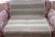 Crochet blankets, rugs and doilies